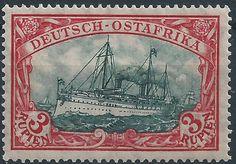 GERMANY COLONY (Ostafrika) EAST AFRICA Mi#38Aa 26x17 MLH OG VF KAISER YACHT SHIP   eBay