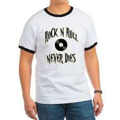 Rock N Roll Never Dies Ringer T> Rock N Roll Never Dies> Route 73 Design and Printing Inc.