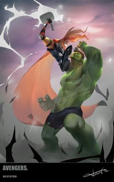 #Hulk #Fan #Art. (Thor Vs Hulk) By Nameonprint. (THE * 5 * STÅR * ÅWARD * OF * MAJOR ÅWESOMENESS!!!™)