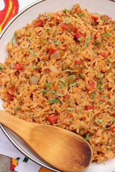 Spanish Rice – The Fountain Avenue Kitchen - Side Dishes - This versatile Spanish Rice recipe is bursting with flavor and can be prepped ahead for added ease - Mexican Rice Recipes, Rice Recipes For Dinner, Asian Recipes, Healthy Recipes, Ethnic Recipes, Healthy Foods, Soup Recipes, Recipies, Savory Rice