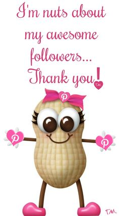 I'm nuts about my awesome Pinterest followers ♥ Tam ♥