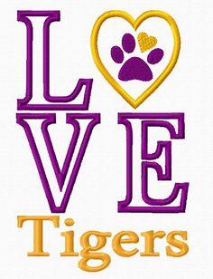 Love Tigers - - LSU TIGERS - LSU TIGERS colors purple & gold - Louisiana State University