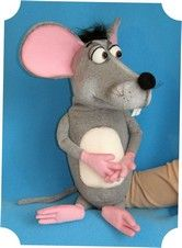 Comic Mouse puppet, puppet for sale