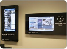 Electronic signage at conference room entrance