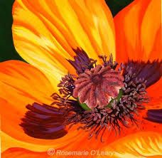 Image result for acrylic painting poppies