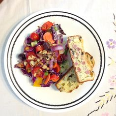 """Cowgirl Chow """"Rustic Country Brunch"""" at Hellwig Farm. Served up a colorful Crunchy Harvest #Salad & Ham & Cheese Quick #Bread. Hee haw & bon appétit! Follow the Cowgirl Chow girls on FB & Twitter. PHOTO: Shawnie Kelley"""
