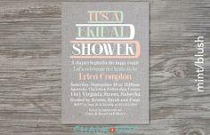 Printable Book Theme Bridal Shower invitation by chalkanddot