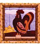 """Rooster Quilt Magic Kit-12""""X12"""""""