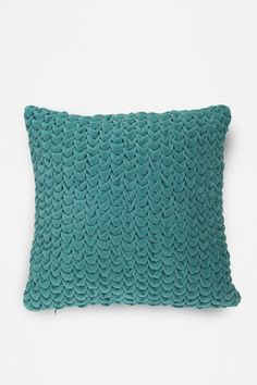 Turquoise Hand Quilted Velvet Pillow from Urban Outfitters