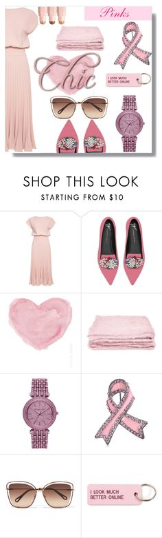 """""""Pinks"""" by daniellejosephinevogue ❤ liked on Polyvore featuring Giuseppe Zanotti, French Country, abcDNA, Michael Kors, Bling Jewelry, Chloé and Various Projects"""