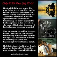 Her Knight in Black Leather is only 99¢ until 7/31/14. http://www.amazon.com/Knight-Black-Leather-Crimson-Romance-ebook/dp/B00AWWZVBE/ref=la_B004SJPT6O_1_1?s=books&ie=UTF8&qid=1406157934&sr=1-1