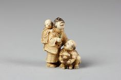 Netsuke of Children with Puppy Date: 19th century Culture: Japan Medium: Ivory