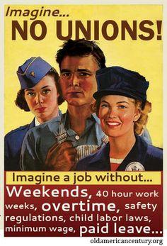 imagine no unions?