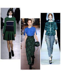 tendances mode automne-hiver 2015-2016 bleu vert
