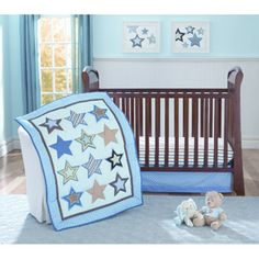 Itty Bitty Starz 3pc Crib Bedding Set HOPEFULLY SOMEONE WILL GET THIS FOR ME!!!