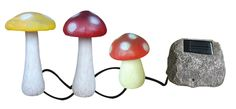 Mushroom String Solar Lights