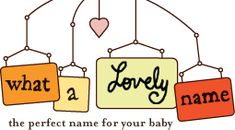 fun way to get ideas on baby names... put in what you want your baby name to mean or represent and it gives you a ton of ideas