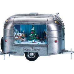 Retro Trailer Music Box | Airstream Style Music Box Camper Music Box | Retro Christmas Music Box