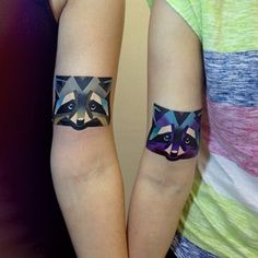 This pair of raccoons: | The 26 Coolest Animal Tattoos From Russian Artist Sasha Unisex