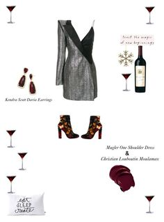 """#Feasttoeyes"" by umamb ❤ liked on Polyvore featuring DENY Designs, Parlane, Columbia, Thierry Mugler, Christian Louboutin and Kendra Scott"