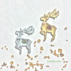 クリスマスのトナカイ【ゴールド】|いちはなか