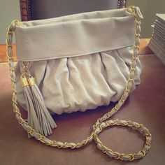 """""""City Chic"""" host pick!  Quilted chain bag Quilted chain bag with tassels. Striped lining with one zip pocket and 2 open pockets. Bags Shoulder Bags"""