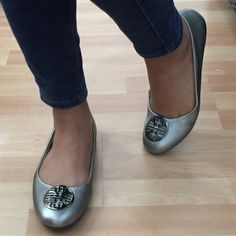 NWT Pierre Dumas Pewter Flats This stylish flat embellished with a pewter emblem is a must have for your collection. With a lightly padded insole and non-skid bottom for added comfort, its your perfect flat. Pierre Dumas Shoes Flats & Loafers