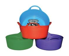Storage Bins and Baskets 159898: Tubtrugs Flexible Tub 5 L Brights Pack Of 5 -> BUY IT NOW ONLY: $43 on eBay!