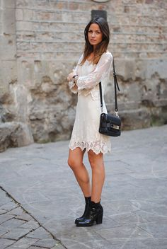 dustjacket attic: Fashion Inspiration | Delicate Ivory Lace