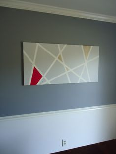 My painter's tape modern art.  Super easy: canvas, paint, tape!