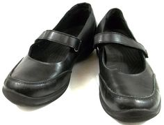 0f97a55bfc8 Crocs Shoes Womens Size 9 M Black Leather Mary Jane Loafers  Crocs   MaryJanes Crocs