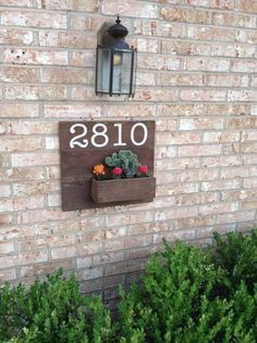 Address Planter by SimplySuell on Etsy
