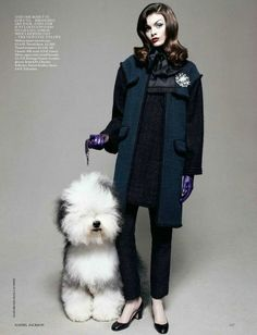 We were photographed by UK Vogue August 2012 'Best In Show' by Daniel Jackson. But, come closer, psst. I don't think Fang can see....