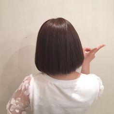 ☆hair cut☆ サラツヤなショートボブ(^^) 大満足ピース頂きました! 超音波トリートメントでさらに輝くツヤ髪に…♪(´ε` )  #Agnos青山#表参道#青山#hair#nail#totalbeauty#ダークアッシュ#darkash#ボブ#bob#ショート#short#トリートメント#treatment#超音波トリートメント#ツヤツヤ#ツヤ髪#サラツヤ#サラサラ#ピース#straight#ストレート