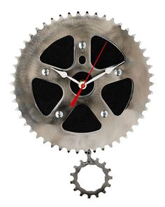 RECYCLED PENDULUM WALL CLOCK | Bicycle Clock, Gear, Chain, Graham Bergh | UncommonGoods