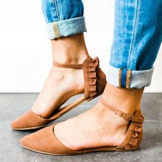 Ruffles Pointed Toe Flats | 3 Colors!