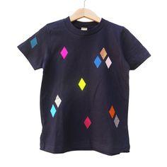 T-Shirt Diamonds navy / pom berlin