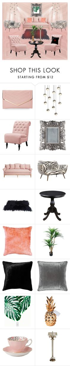 """""""Peach Luxury Living Zebra Room * by Nina Gorceac"""" by ninamakeup5 ❤ liked on Polyvore featuring interior, interiors, interior design, home, home decor, interior decorating, Sasha, Sonneman, Home Decorators Collection and Emporium Home"""
