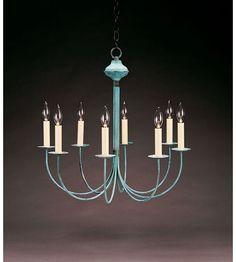 Northeast Lantern Signature 8 Light Chandelier in Verdi Gris 908-VG-LT8 | Lighting New York