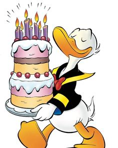 happy birthday wishes Donald Duck Disney Happy Birthday Images, Birthday Images For Men, Birthday Images Funny, Cute Happy Birthday, Happy Birthday Pictures, Happy Birthday Quotes, Happy Birthday Greetings, Birthday Messages, Birthday Wishes