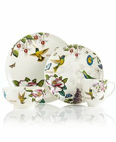 Bring your love of hummingbirds to the dinner table with these dishes, available at Macy's.