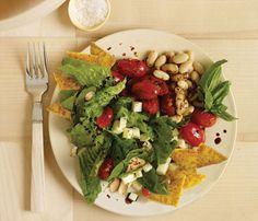 Mediterranean Chef Salad With Polenta Croutons #SelfMagazine #MeatlessMonday