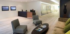 Gorgeous and Credible-Looking Reception Area Interior Design of Artemis Office in London