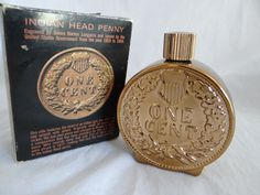 Vintage Avon 1970-72 Indian Head Penny Tribute After Shave