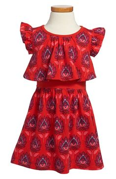 Tea Collection 'Lotus' Popover Dress (Toddler Girls, Little Girls & Big Girls) available at #Nordstrom