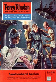 """Perry Rhodan - No. 45: Epidemic Center: Aralon - by Clark Darlton: Cover artwork by """"Johnny"""" Bruck: Was US issue 37"""
