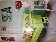 Porch- I love the lime glider