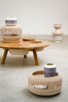 table with hidden basket storage (Ability table by Alberto Fabbian)