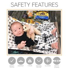 We have worked hard to create a product that provides a safe and secure place for your baby while you shop. We are fully compliant with the US Consumer Product Safety Improvement Act (CPSIA). Safety is extremely important to us at Binxy Baby and we want you to feel confident about using your Shopping Cart Hammock. 🛒💕 // Photo by @darriandepoian #groceryshopping #shoppinghammock