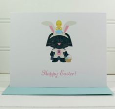 Darth Vader Easter Card Star Wars Card Easter Card by PlayaPaper